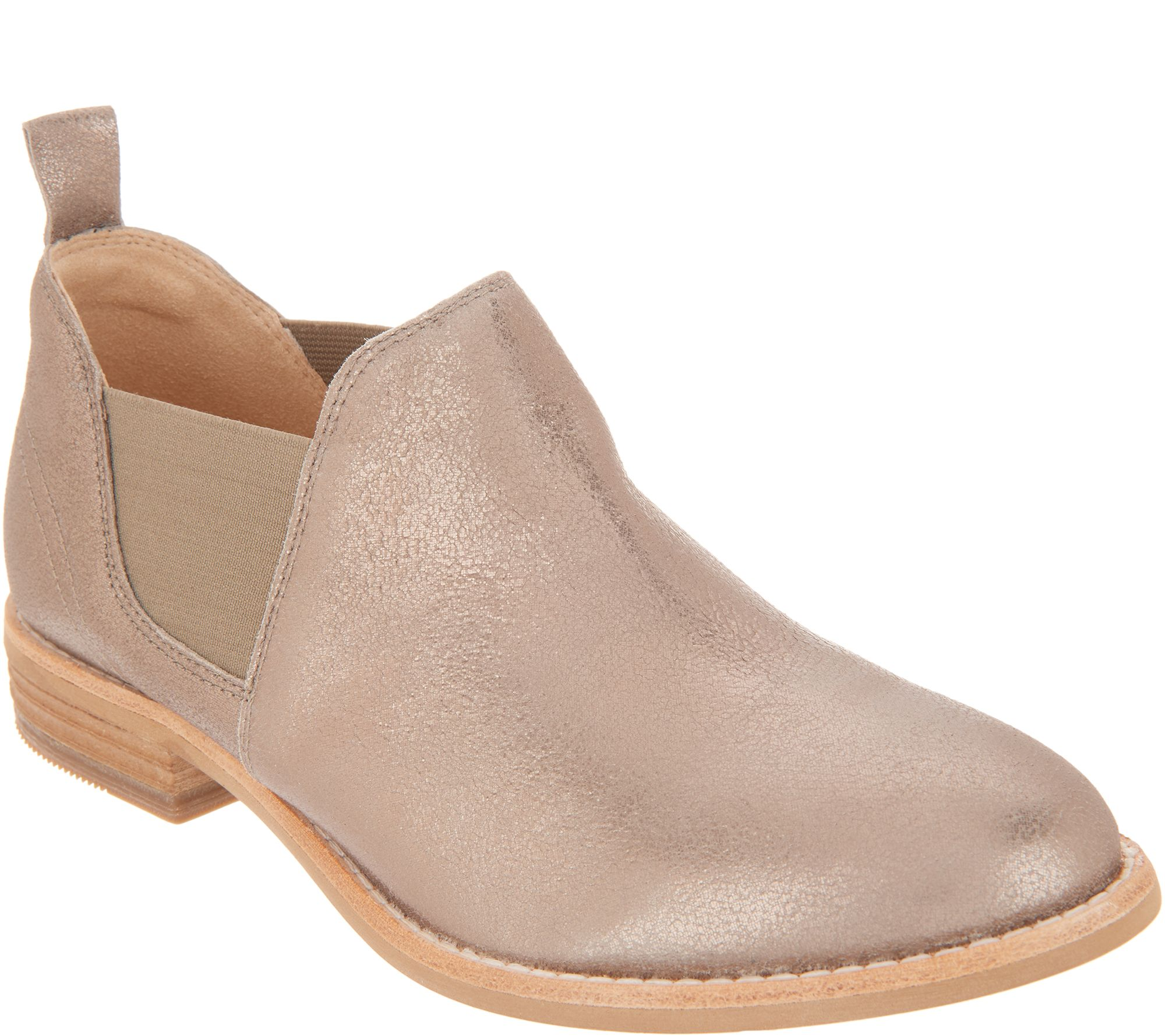 entire collection great deals on fashion new varieties Clarks Leather Slip-on Booties - Edenvale Page — QVC.com