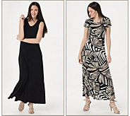 Attitudes by Renee Regular Como Jersey Set of 2 Maxi Dresses - A347401