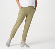 Denim & Co. Active French Terry Pull-On Pants w/ Bottom Snaps - A367901