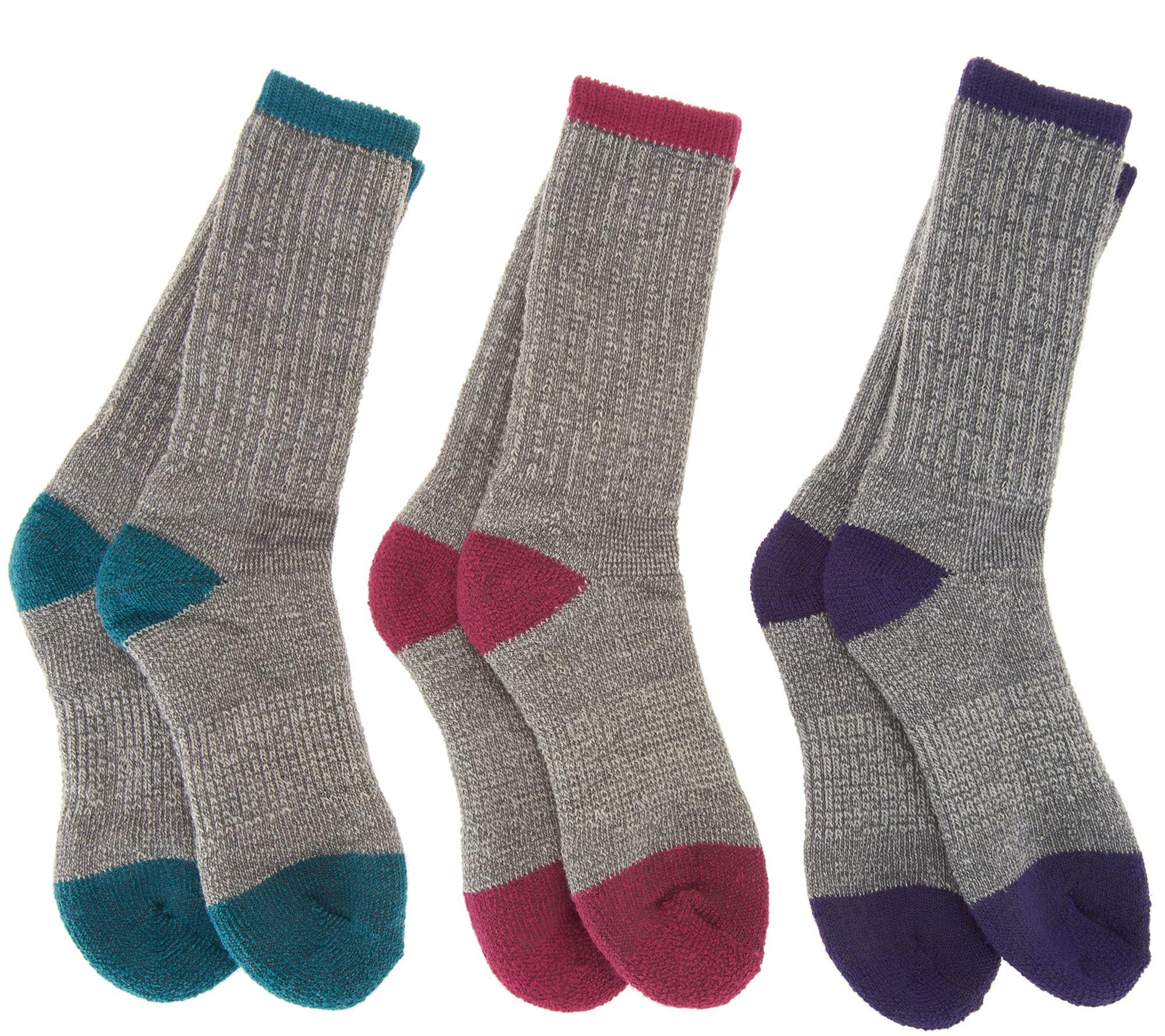 3fbee0a78e96 Catawba Set of 3 Merino Wool Blend Boot Socks - Page 1 — QVC.com