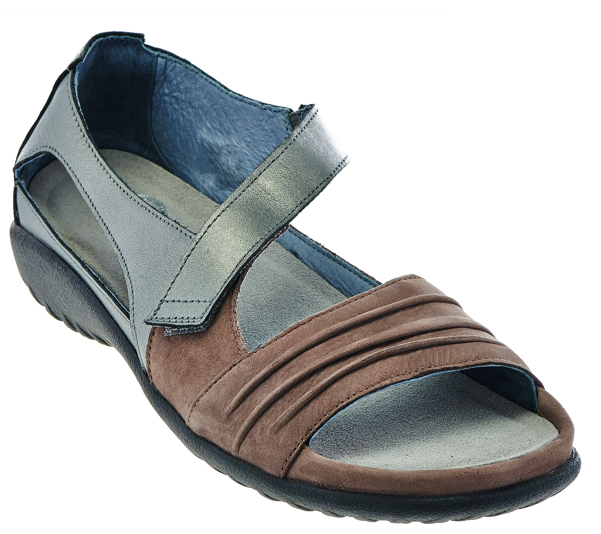 Naot Nubuck Leather Closed Back Sandals - Papaki - Page 1 — QVC.com c6136a36938