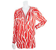 As Is Status by Star Jones Printed Tunic with Embellishment - A287202