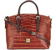 Dooney & Bourke Croco Leather Domed Satchel - A300502