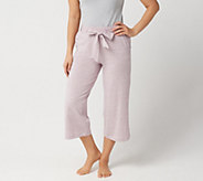 AnyBody Loungewear Cozy Knit Wide Leg Cropped Pants - A302402