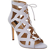 G.I.L.I. Lace-up Cut Out Heel Sandals - Floriana - A302902