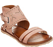 Miz Mooz Leather Sandals w/ Stud Details - Tibby - A304602