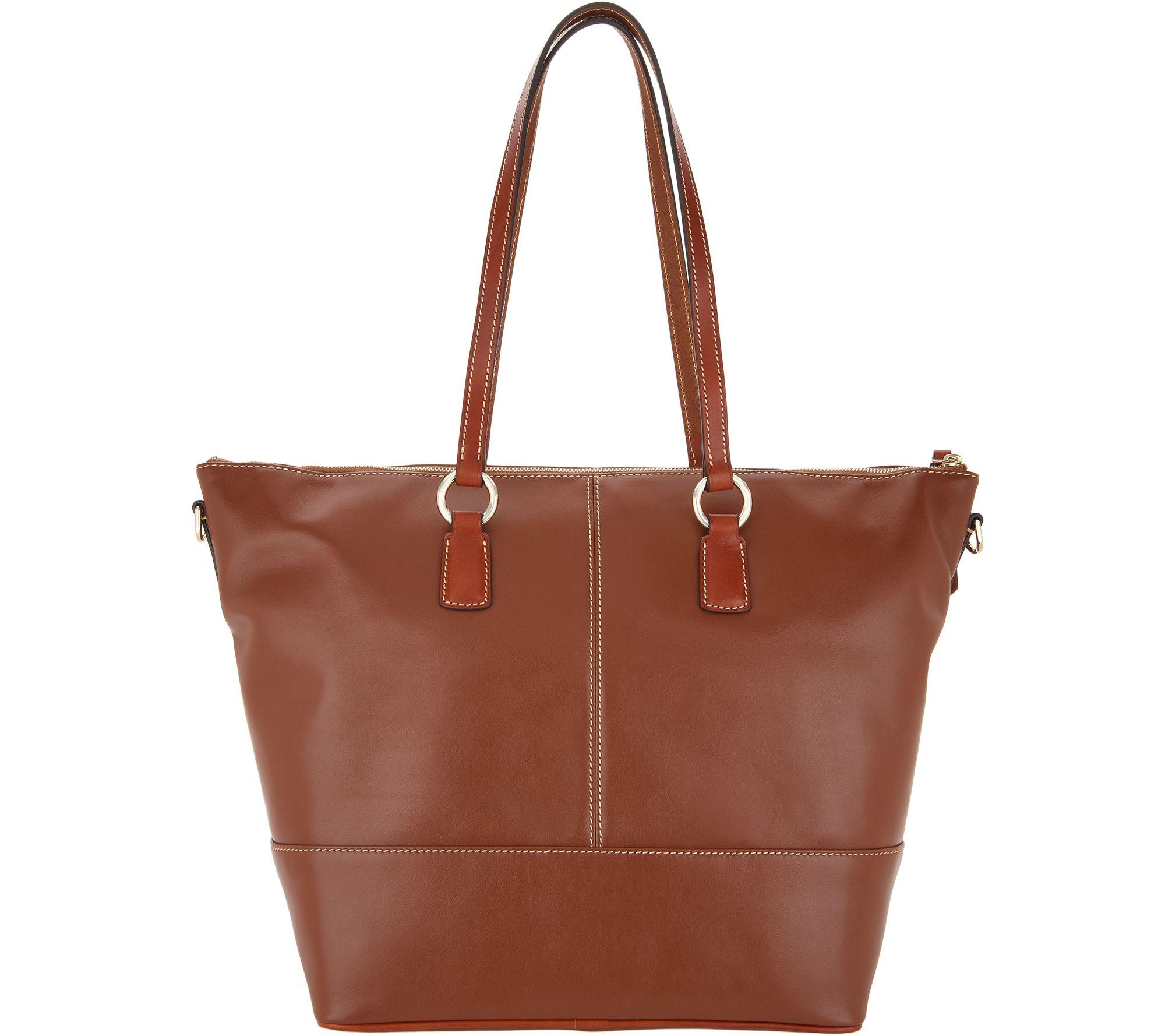 53a6b1da49 Dooney   Bourke Leather Becky Tote - Page 1 — QVC.com