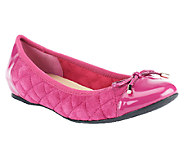 Isaac Mizrahi Live! Quilted Ballet Flats with Patent Trims - A239003