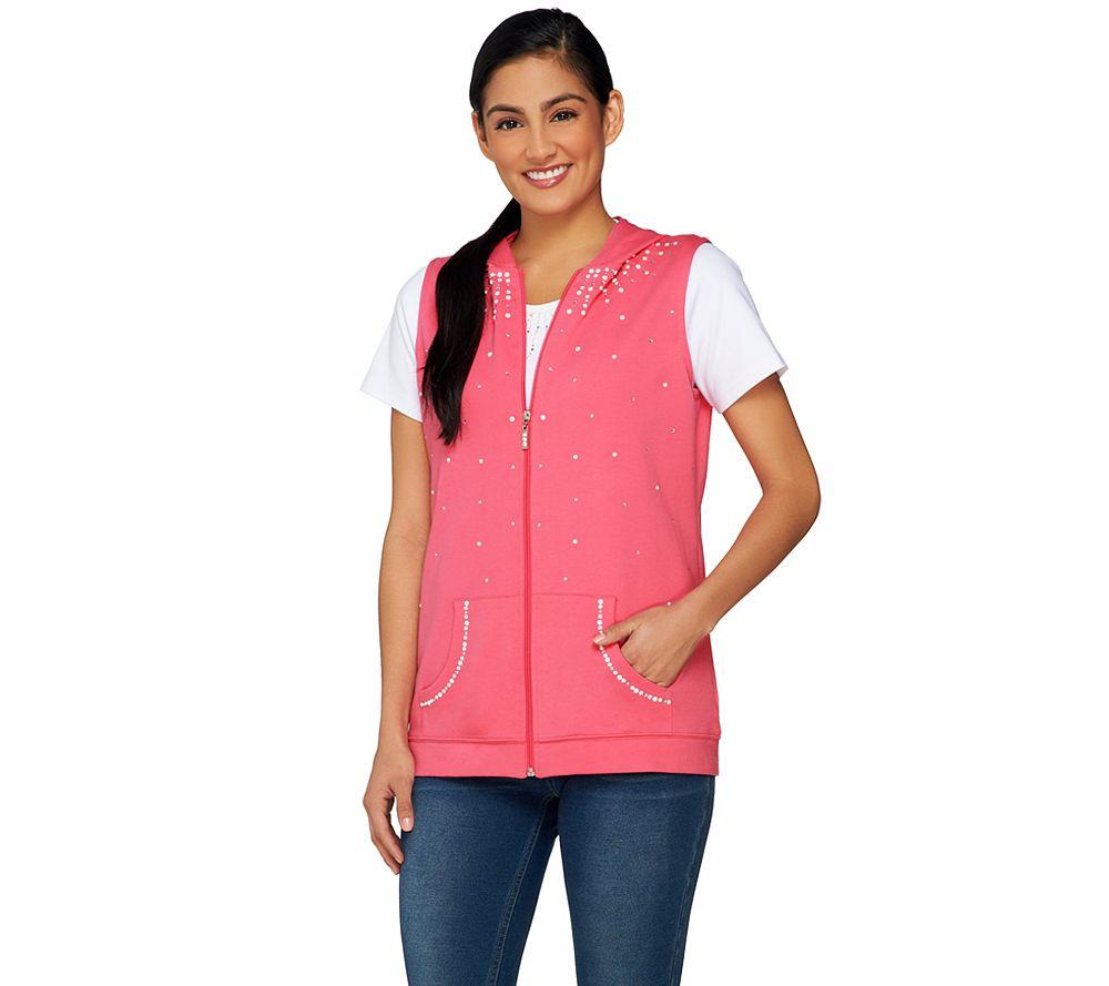 b25d9f99978 Quacker Factory Pearl Vest   Short Sleeve T-shirt Set - Page 1 — QVC.com