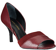 Franco Sarto Leather dOrsay Peep Toe Pumps - India - A268703