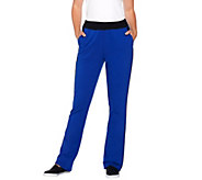 Denim & Co. Active Color Block French Terry Lightly Bootcut Pants - A270103
