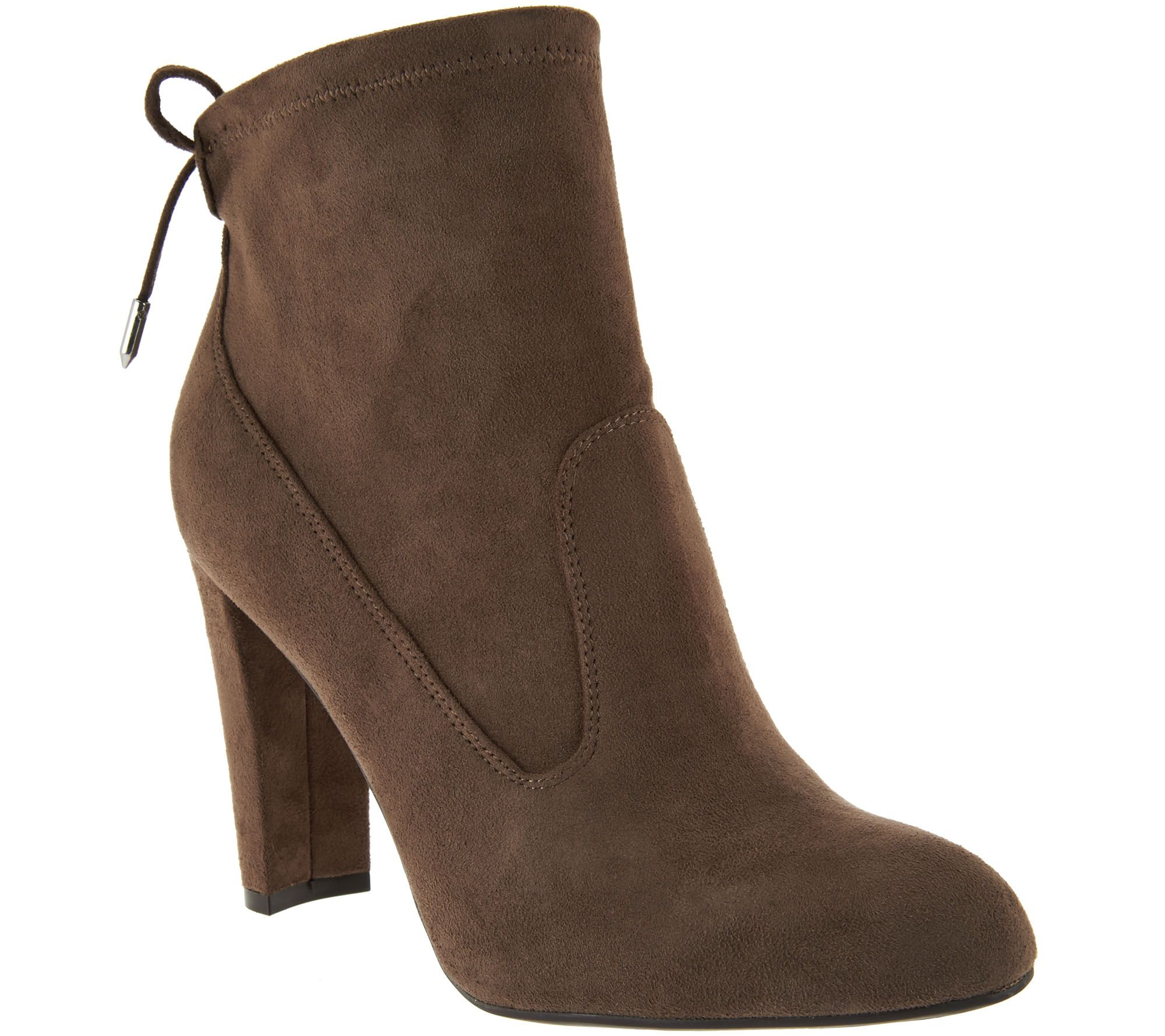 898eb615bdf Marc Fisher Faux-Suede Ankle Boots with Tie Back - Justice - Page 1 — QVC .com