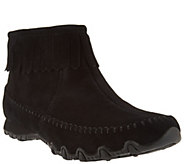 Skechers Relaxed Fit Suede Fringe Boots - Indian Summer - A281103
