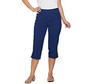Denim & Co. Pull-on Stretch Capri Pants with Crochet Detail - A288103