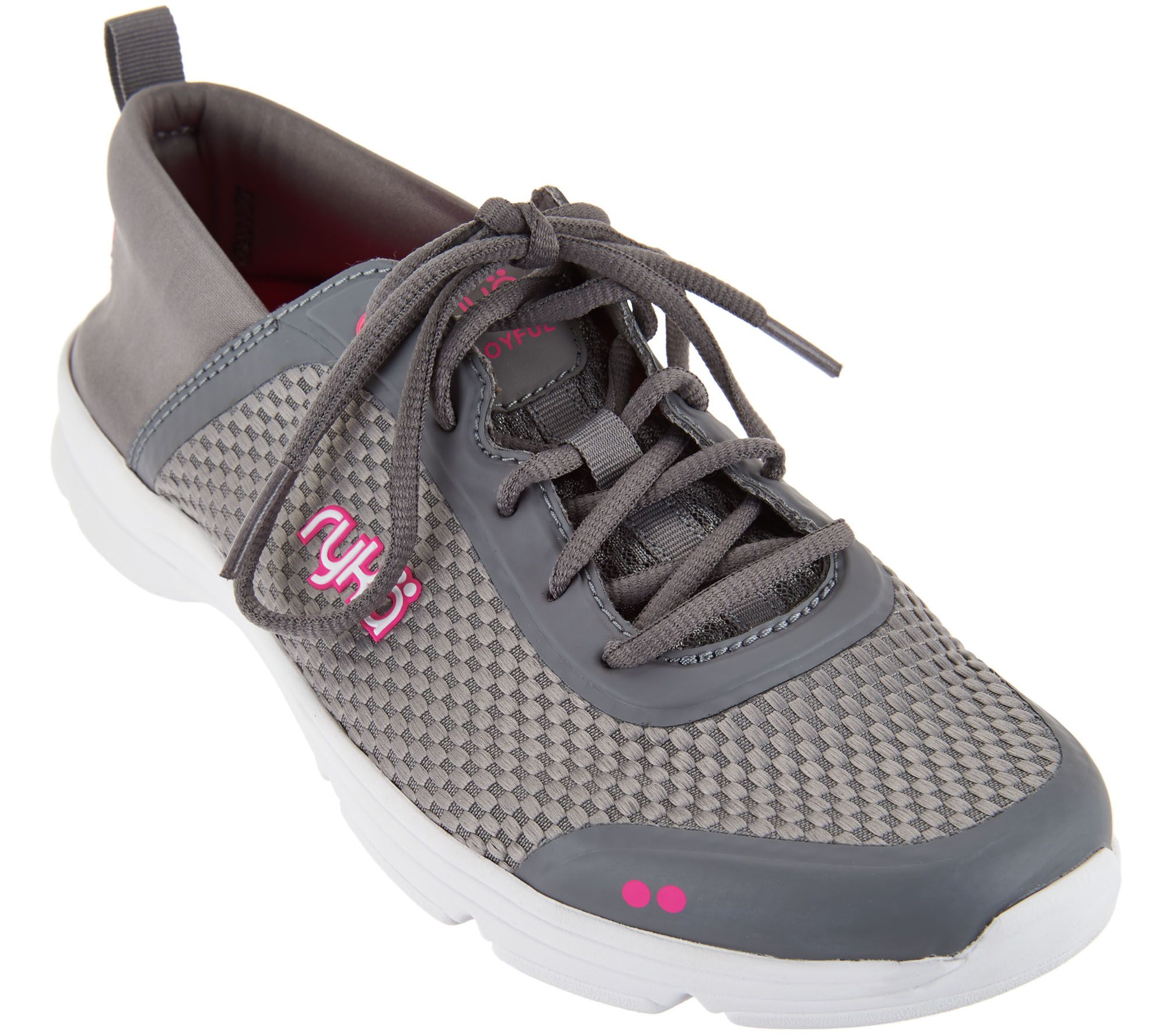 Neoprene lace-up jogging shoes