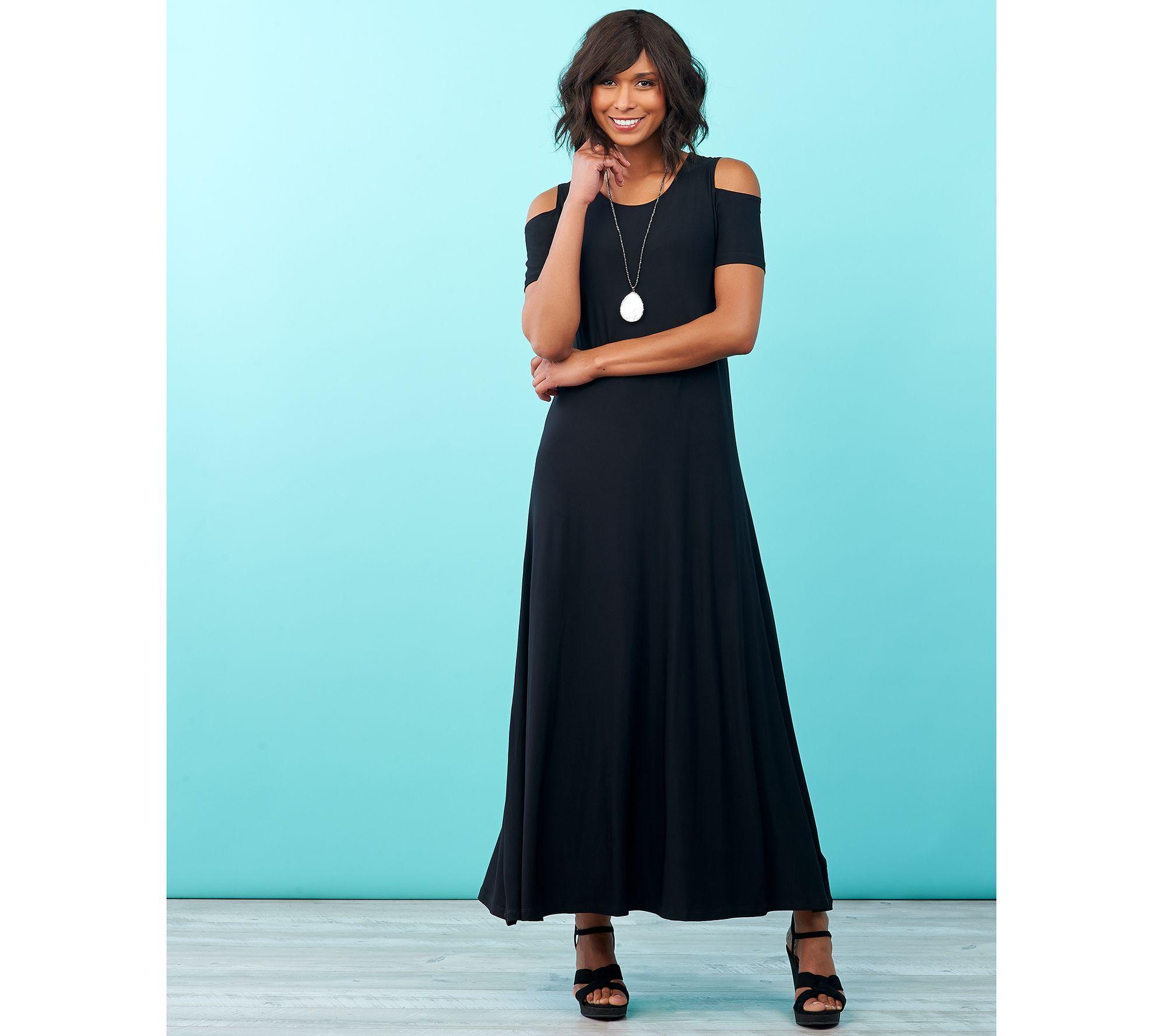 Attitudes by Renee Petite Solid & Printed Set of 2 Dresses — QVC.com