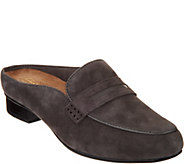 Clarks Artisan Suede Loafer Mules- Keesha Donna - A295303