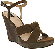 G.I.L.I. Knotted Front Wedge with Ankle Strap - Kahlie - A302903