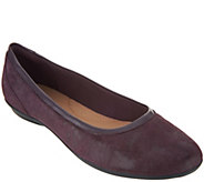 As Is Clarks Leather Ballet Flats - Gracelin Mara - A304103