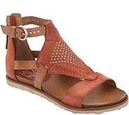 Miz Mooz Leather Cut Out Sandals w/ Stud Details - Tessa - A304603