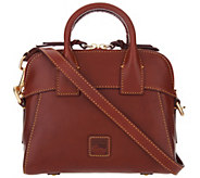 Dooney & Bourke Florentine Leather Crossbody Satchel-Cameron - A305103