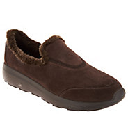 As Is Skechers GOwalk Suede Faux Fur Shoes- Captivating - A308203