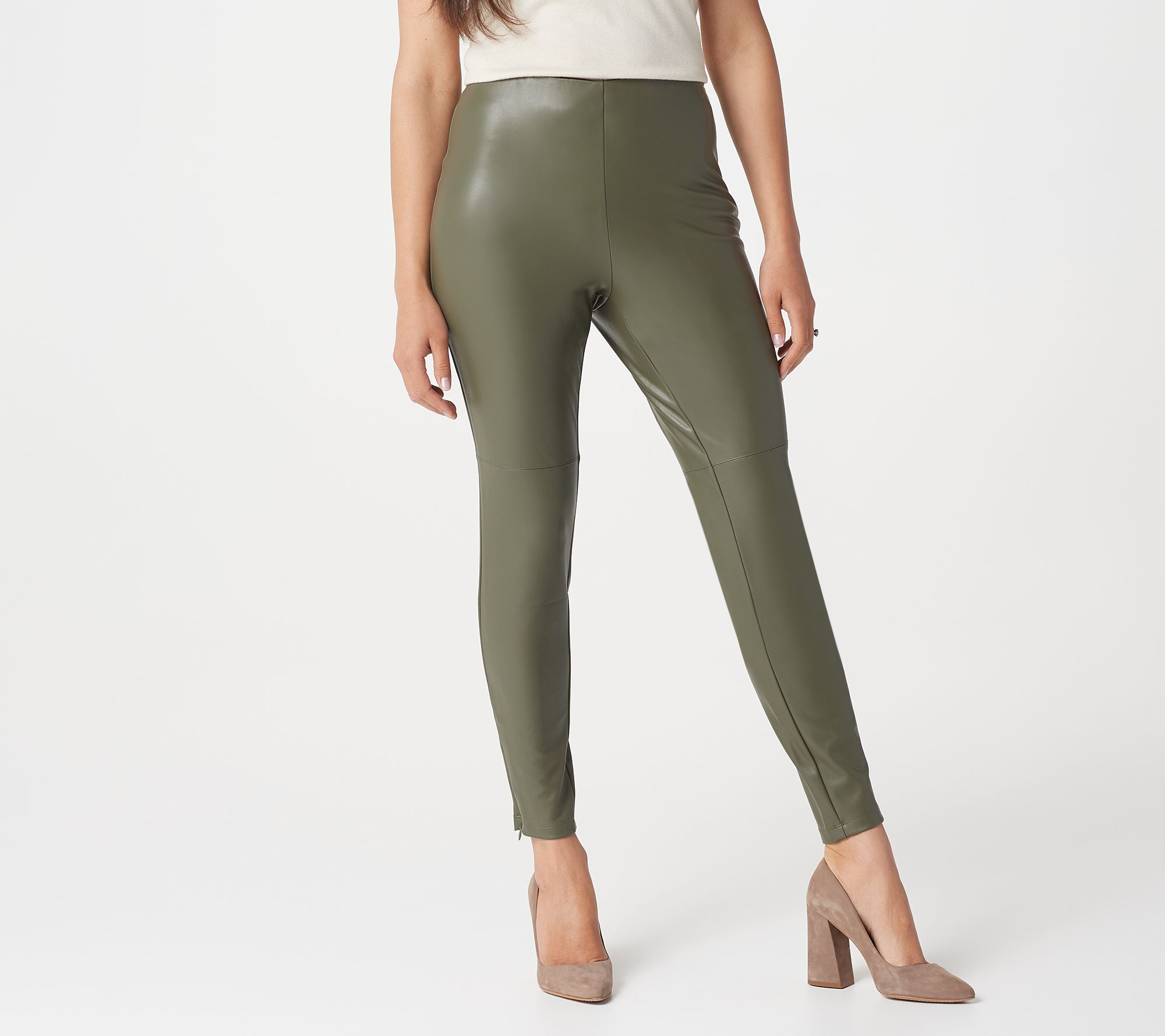 8244bd311cd05 Lisa Rinna Collection Faux Leather Leggings - Page 1 — QVC.com