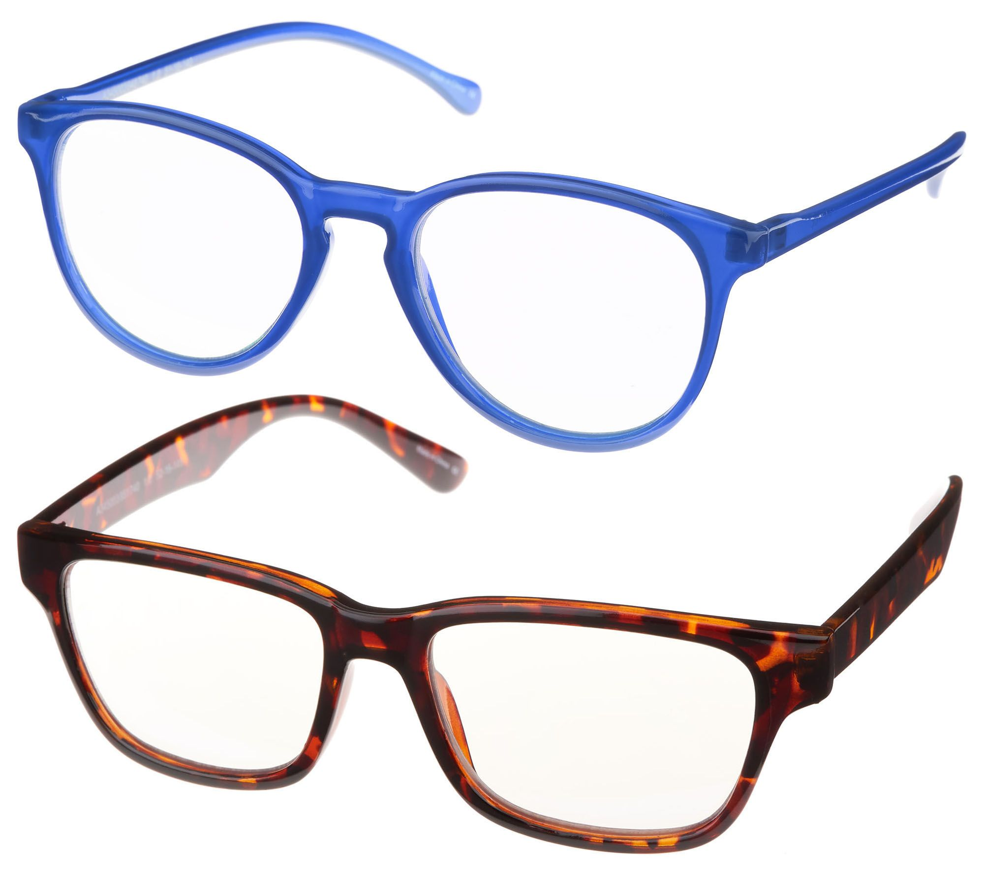 00bf2122077 BluVue Blue Light Reading Glasses Set of Two Strength 1-2.5 - Page 1 —  QVC.com