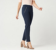 Susan Graver Petite Weekend Premium Stretch Pull-On Pants - A347103