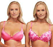 Barely Breezies S/2 Sweetheart Neckline Comfort-Back Bras - A235604