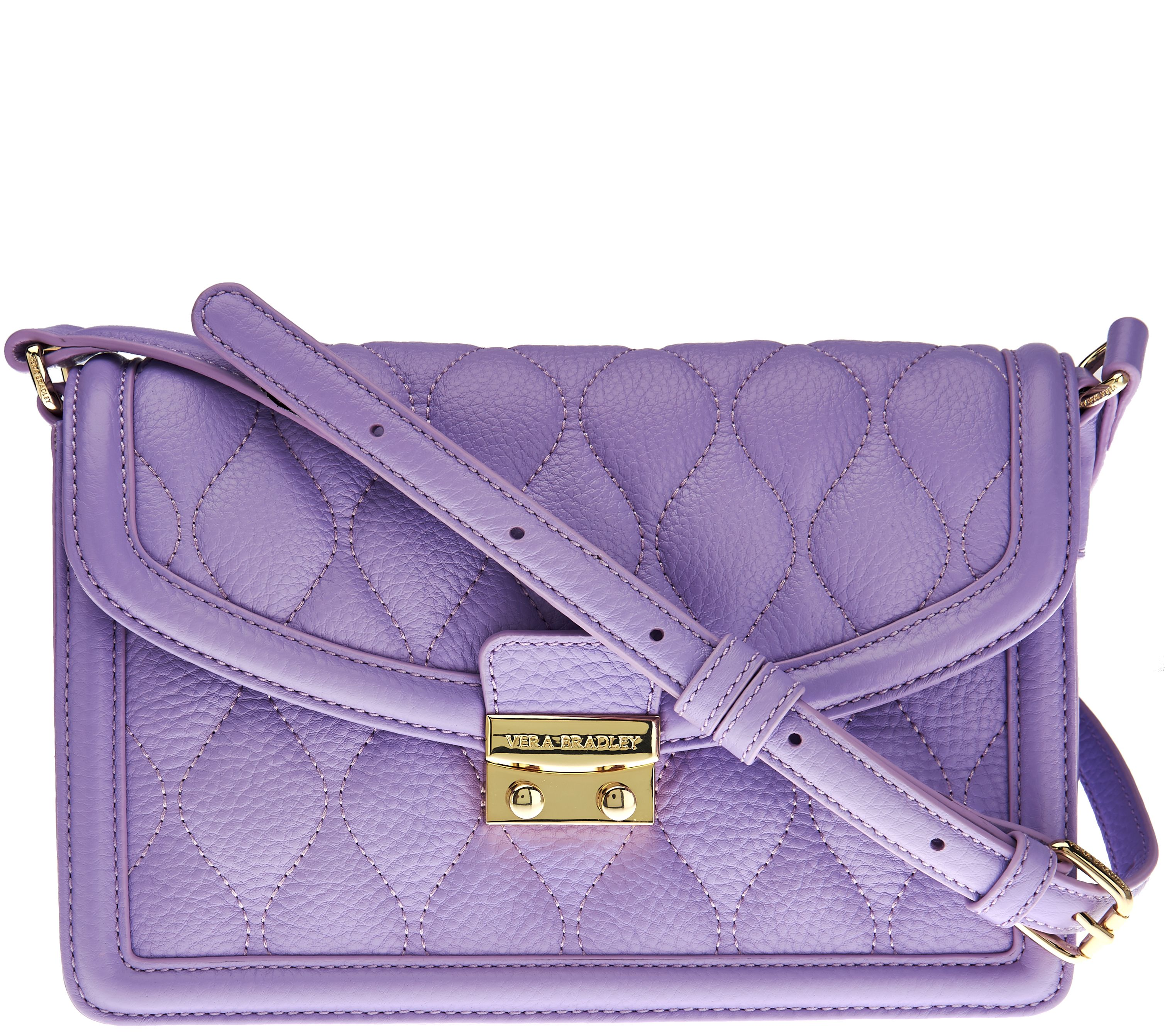 8ec008248636 Vera Bradley Quilted Leather Crossbody -Tess - Page 1 — QVC.com