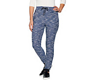 HotTotties French Knit Melange Lounge Slim Pant - A283204