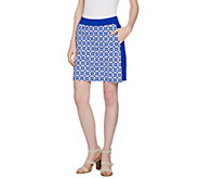 C. Wonder Trellis Print Pull-On Skort with Pockets - A289704
