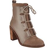 ED Ellen DeGeneres Leather & Suede Ankle Boots - Wallee - A297004