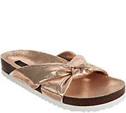 G.I.L.I. Knotted Strap Slide Sandals - Pearlia - A302904