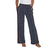 Kelly by Clinton Kelly Regular Pull-On Printed Knit Pants - A305904