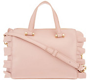 Studio 33 Ruffle Satchel with Crossbody Strap - A310604