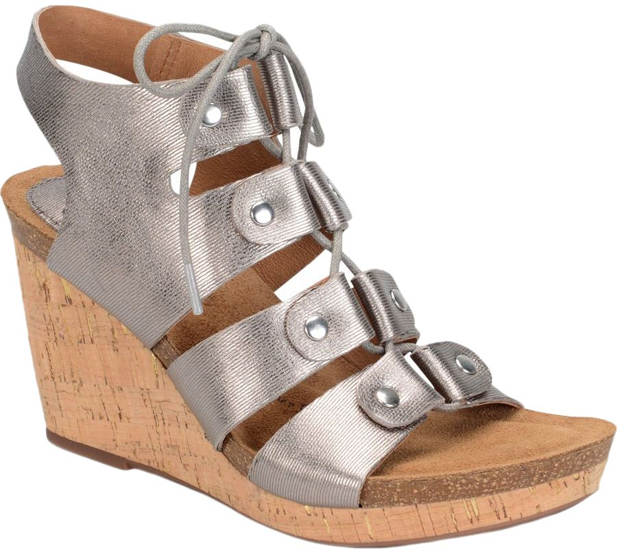 7cef3608755826 Sofft Lace-up Ghillie Wedge Sandals - Carita - Page 1 — QVC.com
