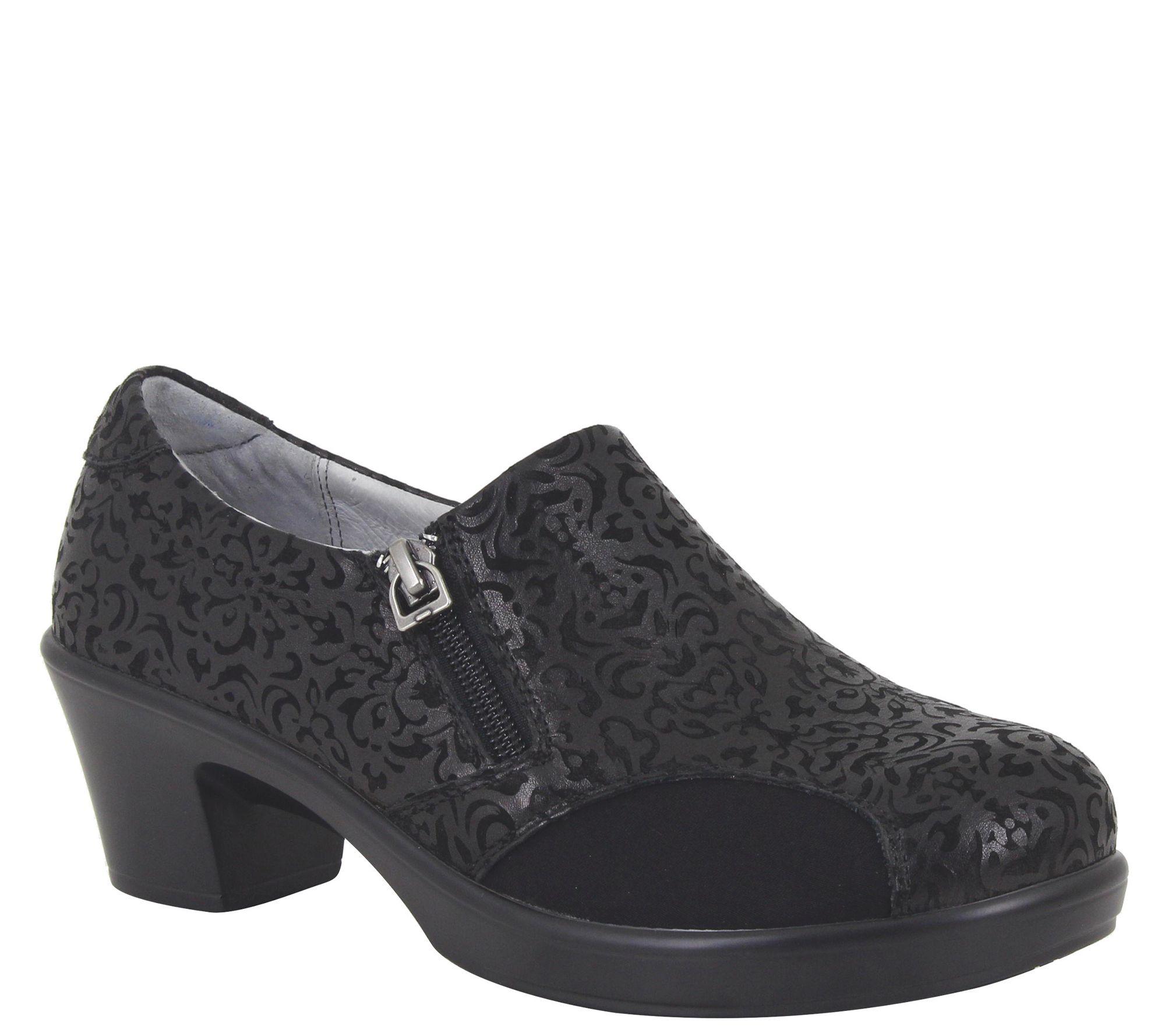 4fafb7f62857bc Alegria Leather Slip-on Comfortable Heels -Hayli - Page 1 — QVC.com