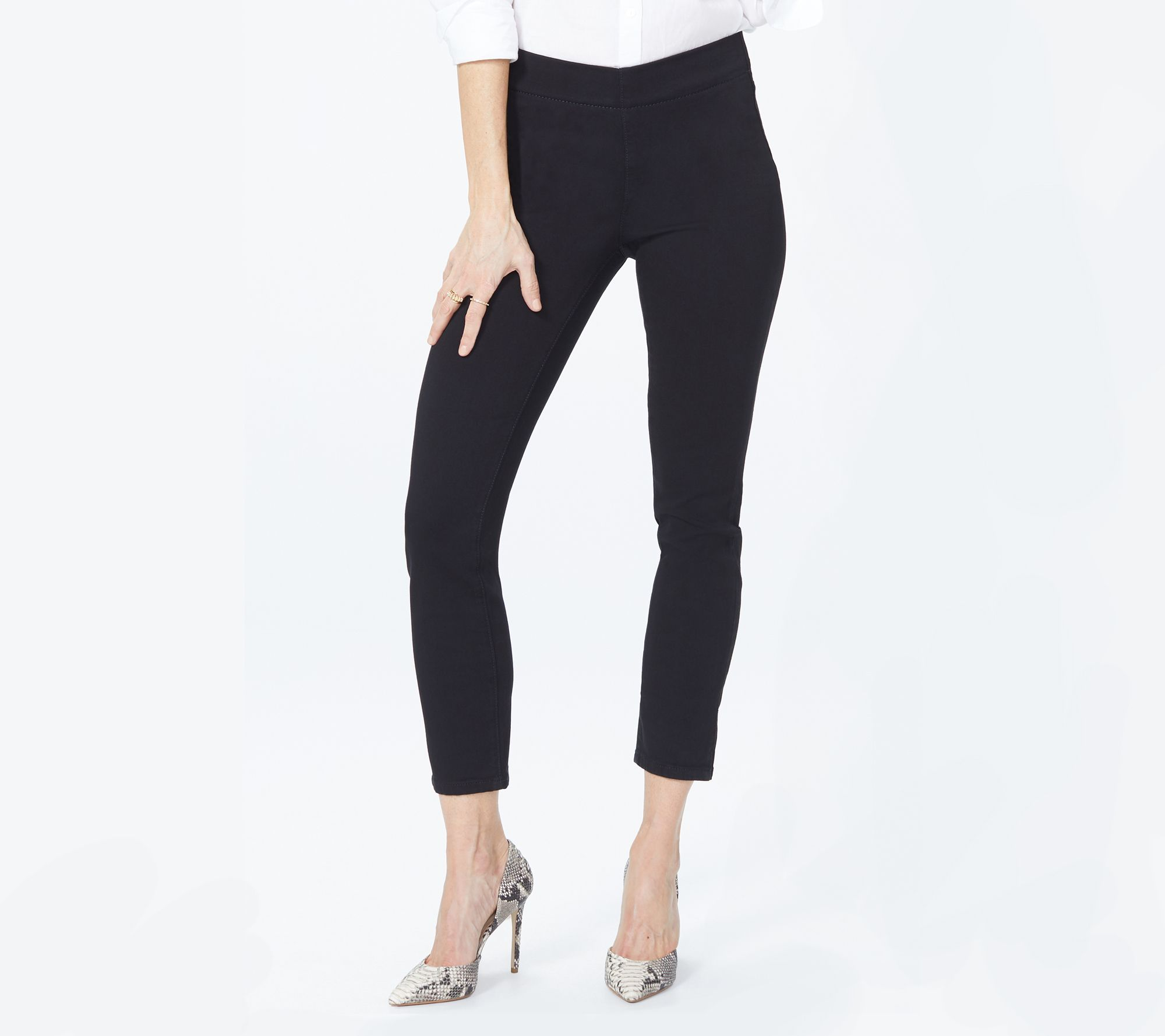 NYDJ Womens Collection Petite SZ Alina Skinny Pull on Ankle Jeans in