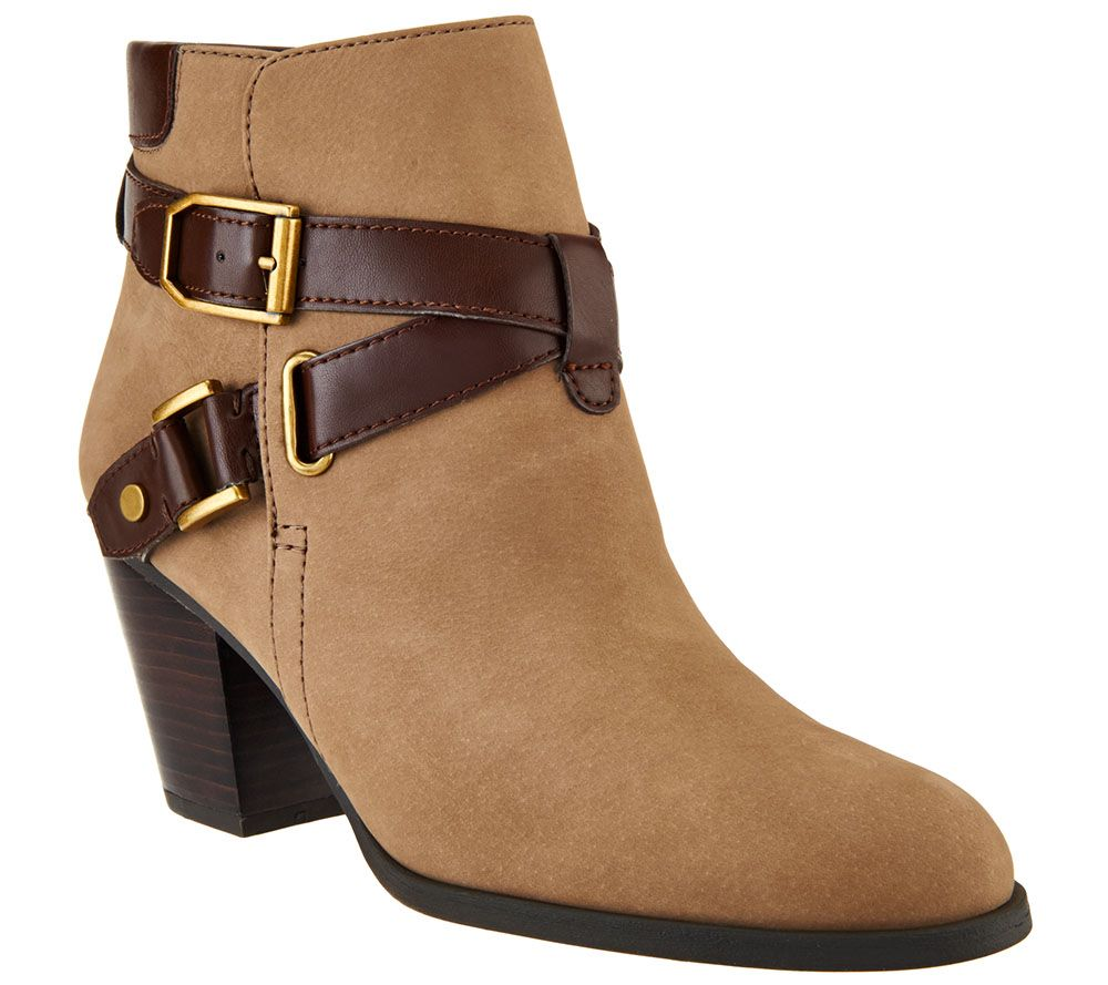 cheap visit discount pick a best Franco Sarto Suede Booties With Strap & Buckle Details - Delight clearance shopping online sast GZwcKr0c