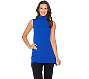 H by Halston Essentials Sleeveless Turtleneck Knit Tunic - A286205
