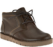 As Is Clarks Unstructured Leather Lace- Up Boots - Un.Austin - A290705
