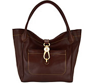 As Is Dooney & Bourke Florentine Logo Lock Tote - A302005