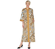 Joan Rivers Petite Length Paisley Print Jersey Lounger - A303305