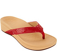 Vionic Perforated Platform Thong Sandals - Zuma - A305005
