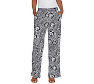 Kelly by Clinton Kelly Petite Pull-On Printed Knit Pants - A305905
