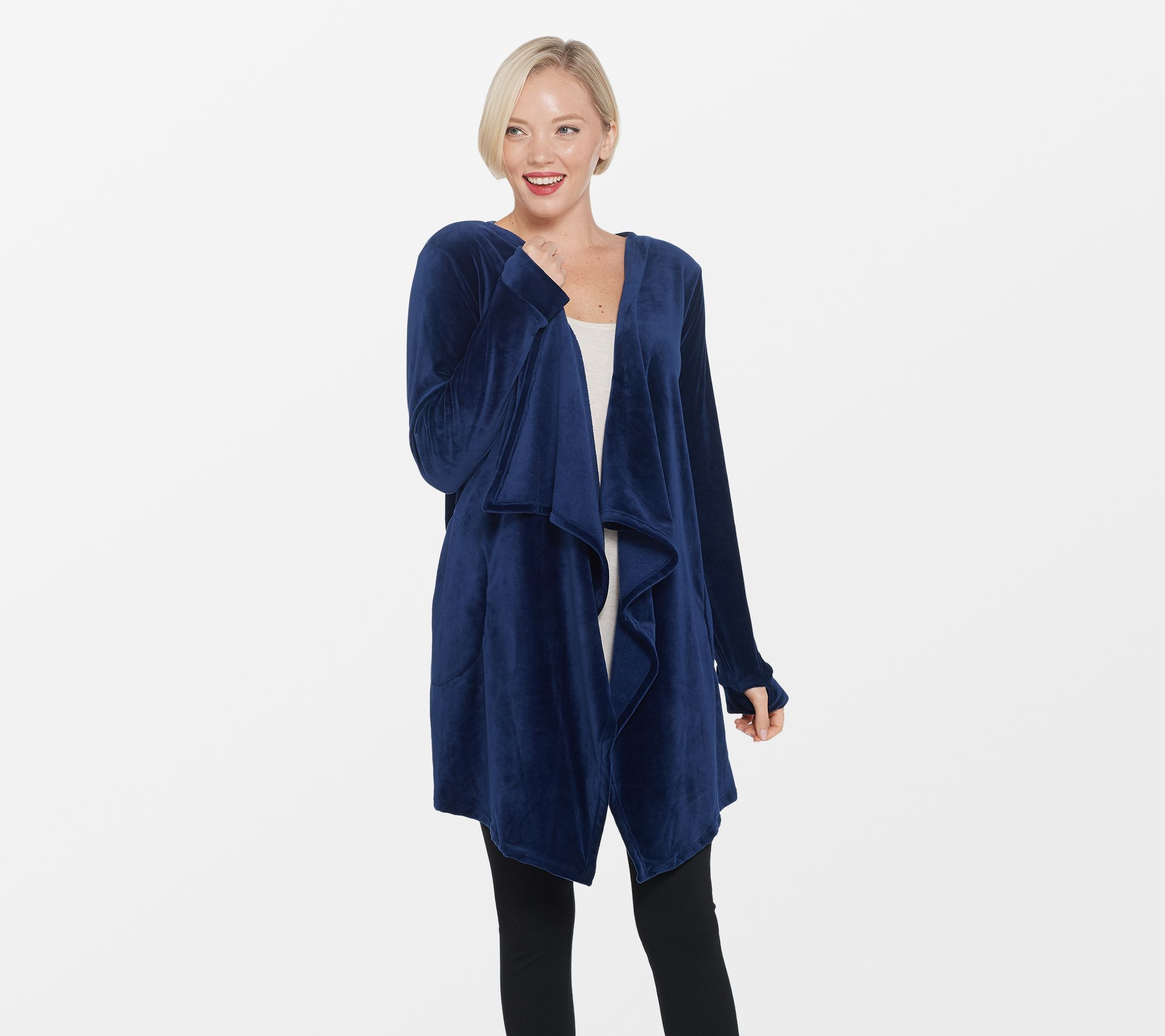 9a86132383 Cuddl Duds Double Plush Velour Cascade Front Cardi Wrap - Page 1 ...