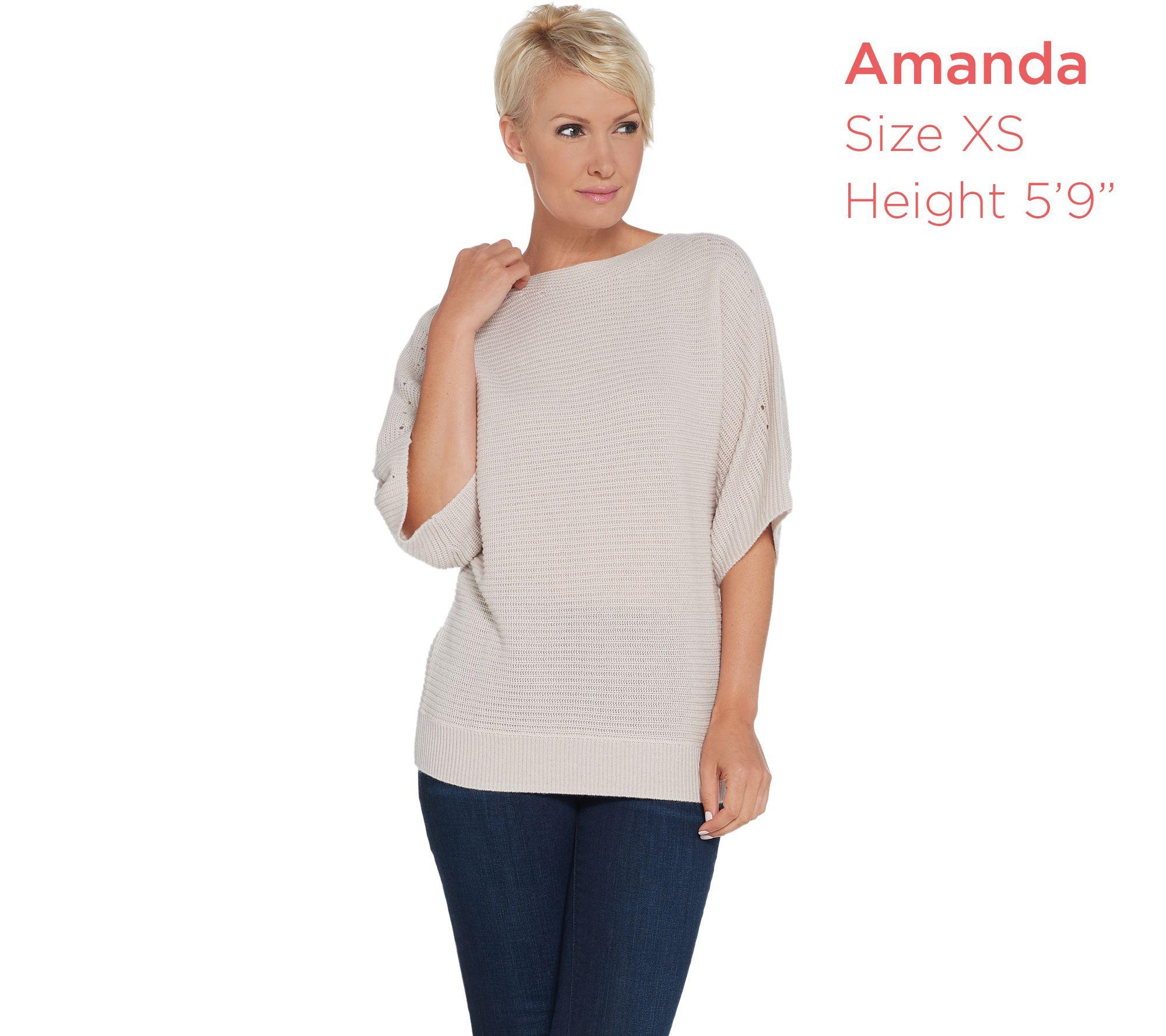 b3dbefabd8f8 Martha Stewart Wool Cashmere Dolman Elbow Sleeve Sweater - Page 1 ...