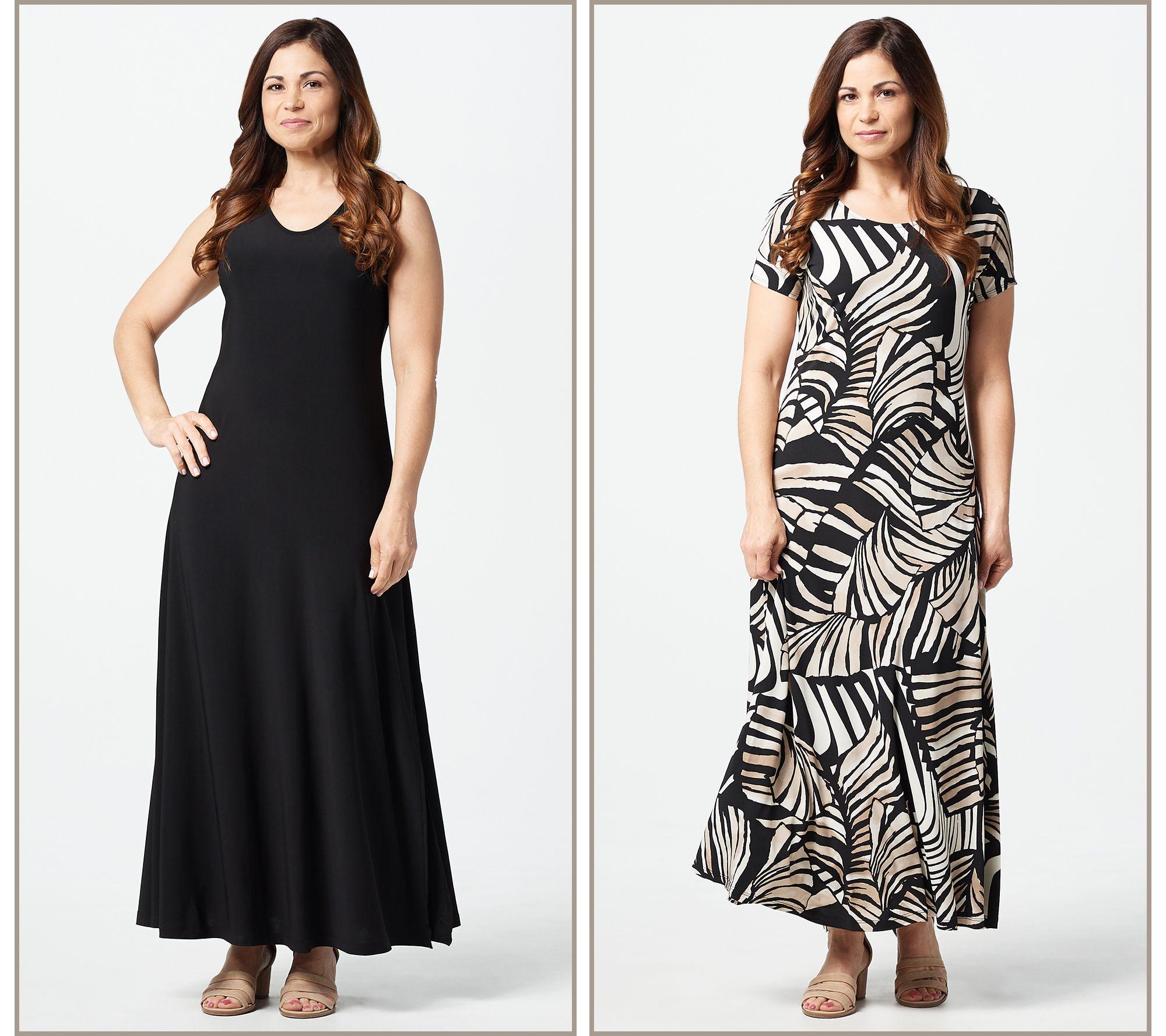 17b479c7088c Attitudes by Renee Petite Como Jersey Set of 2 Maxi Dresses - Page 1 —  QVC.com